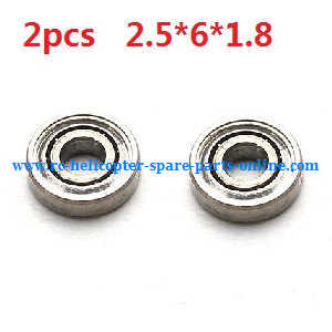 XK K124 RC helicopter spare parts bearing 2.5*6*1.8mm 2pcs