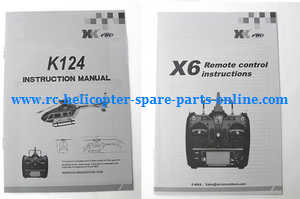 XK K124 RC helicopter spare parts english manual instruction book
