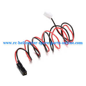 XK K124 RC helicopter spare parts connect wire plug for the tail motor