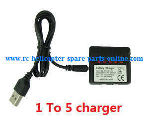 XK X100 quadcopter spare parts 1 To 5 charger box and USB wire