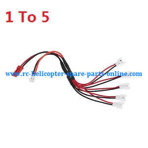 XK X100 quadcopter spare parts 1 To 5 charger wire