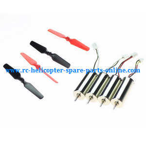 XK X100 quadcopter spare parts motor (2*Red-Black wire + 2*Black-White wire) + main blades set