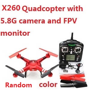 XK X260 RC quadcopter with 5.8G camera and FPV monitor