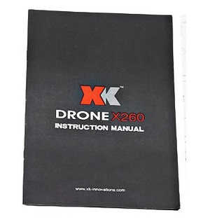 XK X260 X260-1 X260-2 quadcopter spare parts English manual book