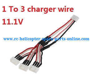 XK X350 quadcopter spare parts 1 to 3 charger wire 11.1V