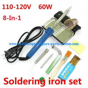 XK X350 quadcopter spare parts 8-In-1 Voltage 110-120V 60W soldering iron set