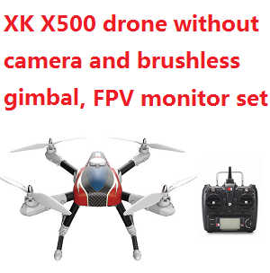 XK Aircam X500 Quadcopter without camera and brushless gimbal,PFV monitor.