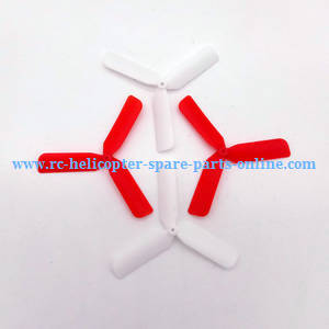 Yi Zhan X4 RC Quadcopter spare parts upgrade 3-leaf main blades (Red-White)
