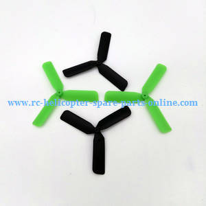Yi Zhan X4 RC Quadcopter spare parts upgrade 3-leaf main blades (Black-Green)