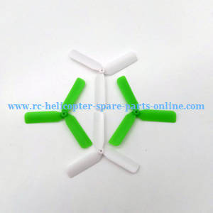 Yi Zhan X4 RC Quadcopter spare parts upgrade 3-leaf main blades (Green-White)