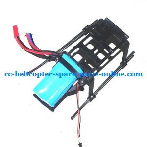 ZHENGRUN ZR Model Z100 RC helicopter spare parts battery + undercarriage set