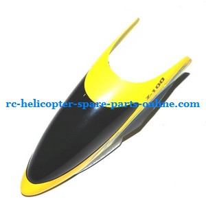 ZHENGRUN ZR Model Z100 RC helicopter spare parts head cover (Yellow)