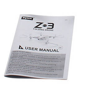 Syma Z3 RC quadcopter spare parts English manual instruction book