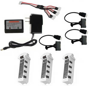 Hubsan H117S ZINO RC Quadcopter spare parts 1 to 3 charger set + 3*battery set