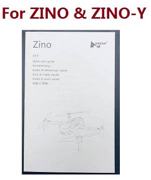 Hubsan H117S ZINO RC Quadcopter spare parts English manual book