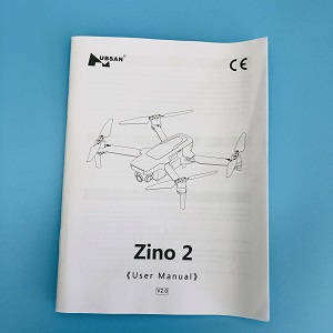 Hubsan ZINO 2+ plus RC drone spare parts English manual book