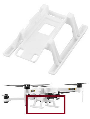 Hubsan ZINO 2+ plus RC drone spare parts upgrade landing skids (White)