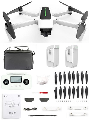 Hubsan ZINO 2+ RC drone with portable bag and 2 battery RTF